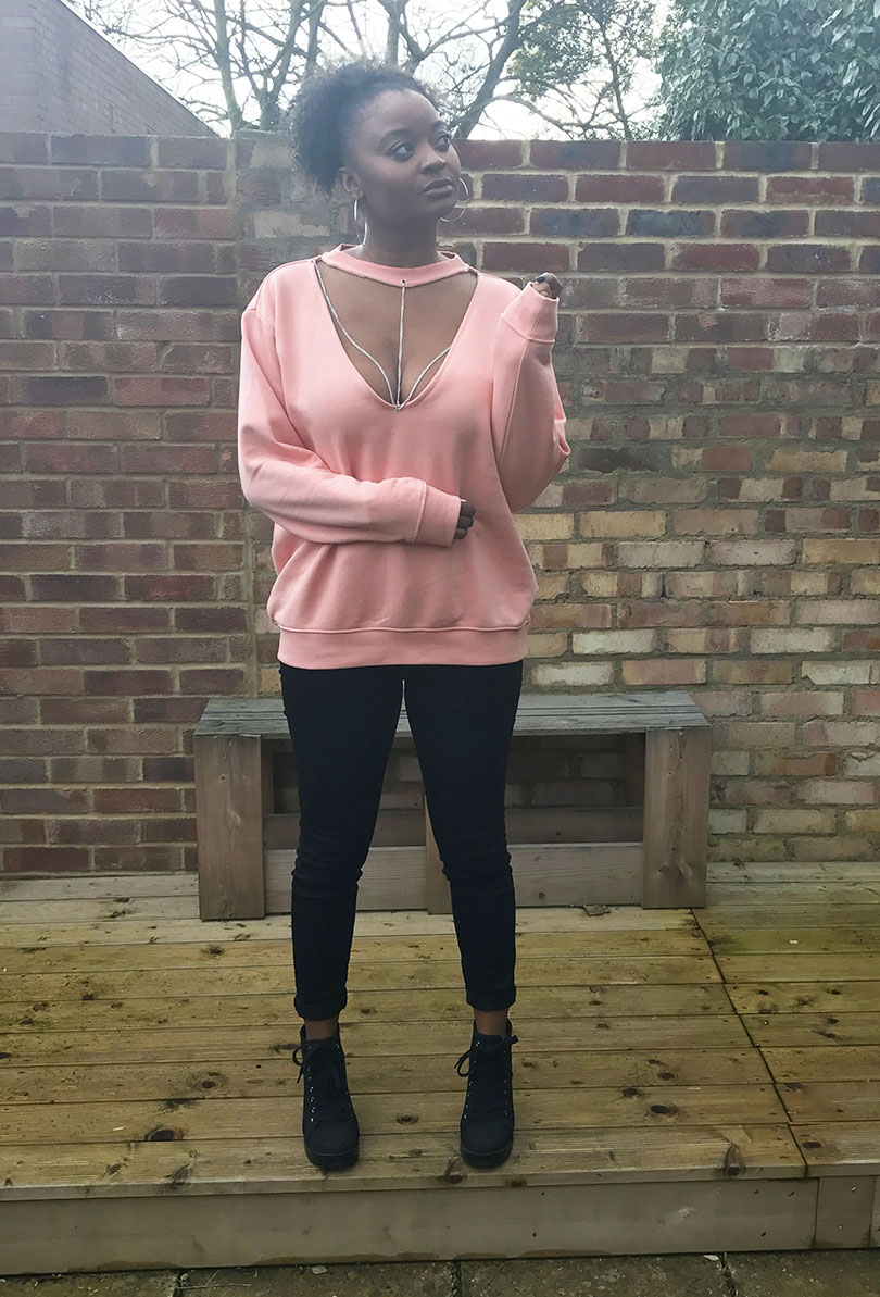 DIY Choker Chain Sweater (Easy)