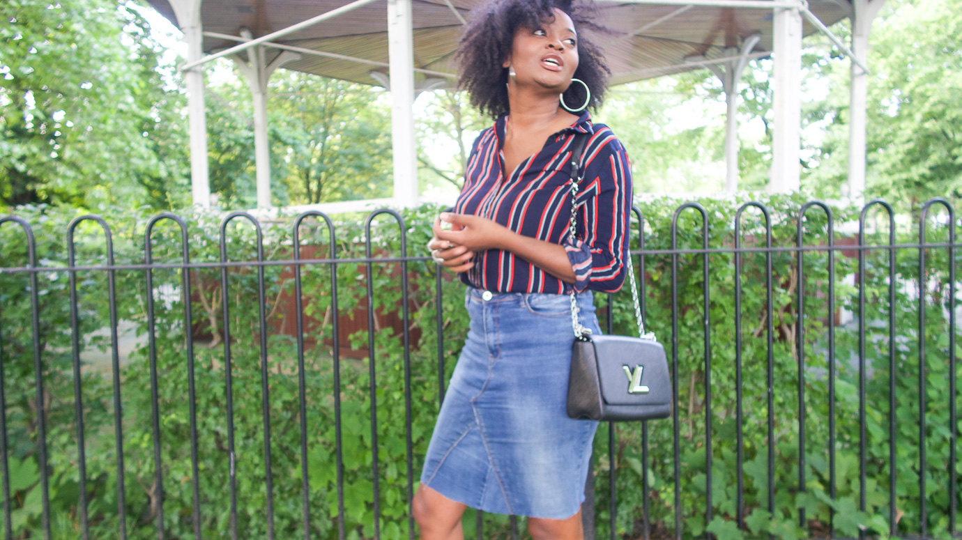 DIY: Old Jeans to Denim Skirt (video)