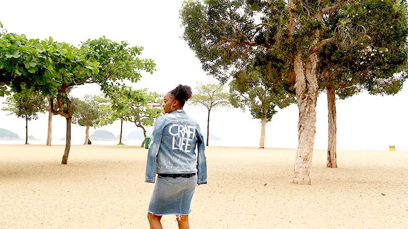 DENIM UPDATES: Painted Denim Jacket